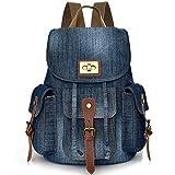 Convertible Denim School Backpack pour Teen Girls Femmes Cute Bookbag Voyage Sac à...