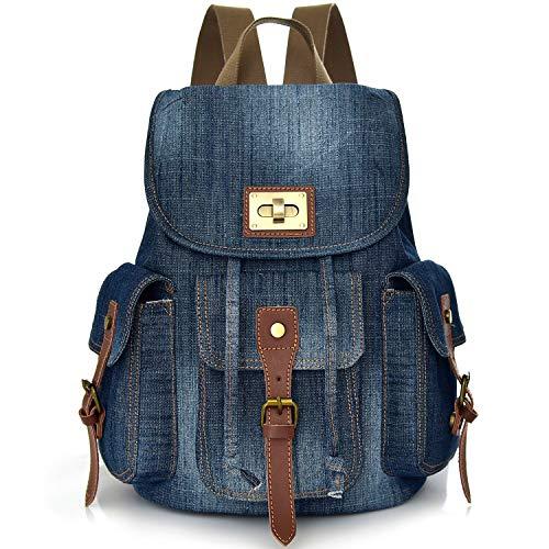 Convertible Denim School Backpack pour Teen Girls...