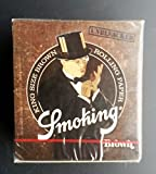 Smoking - Set di cartine Smoking marroni De Luxe, 50 confezioni da 33 cartine
