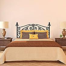 Scroll Shabby Chic cabecero de cama adhesivo decorativo para pared vinilo adhesivo para pared cama pared dâ ¨ Â ¦ cor (marrón, doble) por mairgwall
