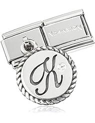 Nominación para mujer-Charm componibles charms letters (x) acero inoxidable Circonita plata - 03171524
