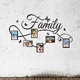 Mambain Adesivi Muro Famiglia con Foto Cornice Adesivi Murali Family Salotto Camera da Letto DIY Rimovibile Impermeabile Autoadesivo Arte Decorazioni per Pareti(Colorati,131 * 72CM)