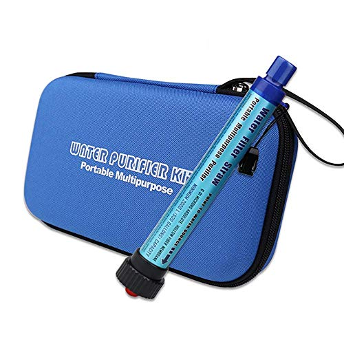 Mini-Wasser Filtrations System, Tragbarer Wasserfilter Persönlicher Wasserfilter Für Wandern, Camping, Reisen, Rucksack Outdoor-Sport Und Emergencyvorsorge, Entfernt Bakterien Und Protozoen.,Blue -