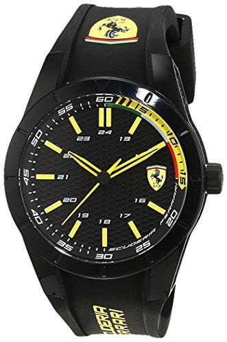 Scuderia Ferrari Orologi 0830302, Orologio da polso da uomo, al quarzo, analogico, rosso, in silicone