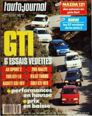 AUTO JOURNAL (L') N? 8 du 01-05-1988 SOMMAIRE - A J INFOS - A J PREMIERE - LA TRIBUNE DES LECTEURS - AU-DELA DE L'IMPOSSIBLE - INTERVIEW - VITTORIO GHIDELLA DIRECTEUR GENERAL DE FIAT AUTO - L'AUTO ET LE DROIT - J'AI CONDUIT LA TOYOTA CARINA - J'AI CONDUIT LA ROVER 827 V6 - SUPERSTAR - LANCIA STRATOS HF - TOURISME - LES PLUMES DE LA BRESSE - LA ROUTE BUISSONNIERE - CARAVANE - L'ADRIA OPTIMA 440 - CHAMPIONNAT D'EUROPE DE TOURISME - EN DIRECT AVEC ALAIN PROST - RALLYE DE TUNISIE - FORMULE 3000 -...