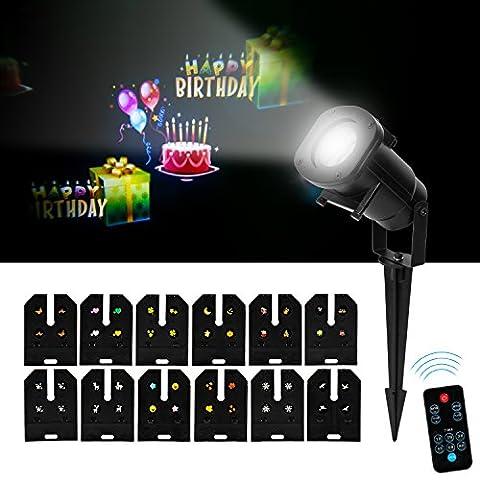 duomishu LED Projektion Mehrfarbig Lampe für Geburtstag, Partys, Weihnachten, Halloween oder Abende Wanddekoration Projektoren erstellen der Atmosphäre kann die Geschwindigkeit