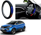 #7: Autopearl Auto Pearl - Adinox Premium Quality Ring Type Car Steering Wheel Cover (Chromium Barcelona) For -Tata Nexon