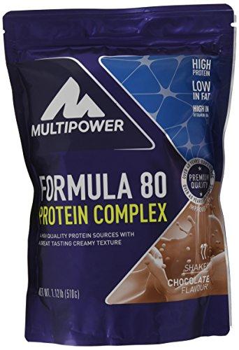 Multipower Formula 80 Protein Complex – Mehrkomponenten Protein Pulver für den Muskelaufbau – Proteinpulver mit Casein für eine langfristige Versorgung – mit cremigem Schokoladen Geschmack – 510 g (Shake Cremig)