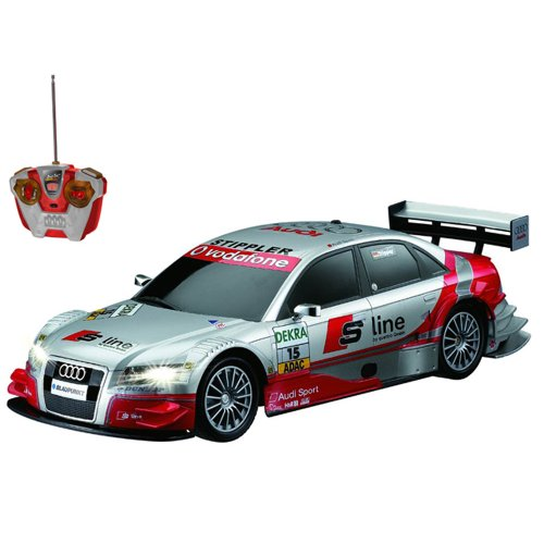 RC Tourenwagen kaufen Tourenwagen Bild 1: Audi A4 DTM RC ferngesteuertes Lizenz Fahrzeug im Original Design, Modell Ma stab 1 16, Ready to Drive, Auto inkl Fernsteuerung*