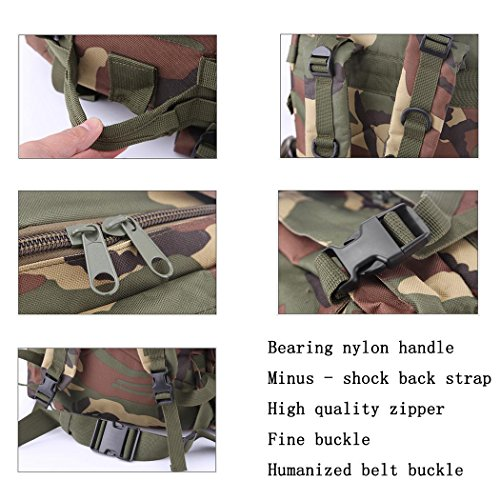 55L Wandern Rucksack Multifunktions leichtes wasserdicht kombinieren Rucksack Outdoor Sports Camping Bergsteigen Adventure Travel Nylon Rucksack Black
