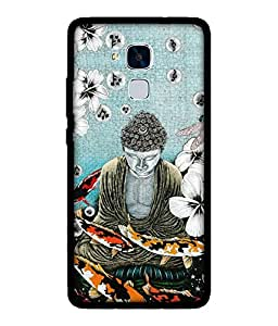 Chnno 2d buddha Printed Back Cover For Huawei Honor 5C No- 1740