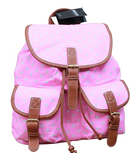 Rucksack Shopper Canvas-Tasche mit Print Schulranzen Schulter Handtasche Rucksack Print , Modell:Modell 19 Modell 22
