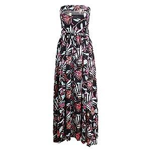 Providethebest Wickeln Sie Sexy Princess Frauen Printed Bügel Taille Mädchen Lang Maxi Kleid Sundress Polyester