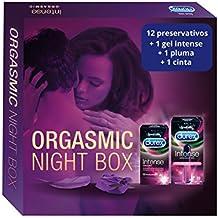 Durex Intense Orgasmic Night Box y Gel Estimulante - 12 preservativos