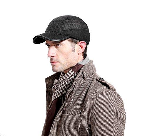 Uomo Cappelli invernali all'aperto Visiere Regolabile cappello con Earflap Antivento Berretti per Uomo