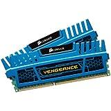 Corsair Vengeance Memoria RAM, 8 GB, 2x4 GB, DDR3, 240-pin DIMM, PC3-12800, 1600 MHz,  con Supporto XMP 1.3, Blu (Blue)