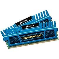 Corsair CMZ8GX3M2A1600C9B Vengeance Memoria per Desktop, 8 GB (2x4 GB), DDR3, 1600 MHz, CL9, con Supporto XMP, Blu
