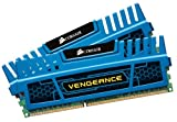 Corsair CMZ8GX3M2A1600C9B Vengeance 8GB (2x4GB) DDR3 1600 Mhz CL9 XMP Performance Desktop Memory Kit Blue
