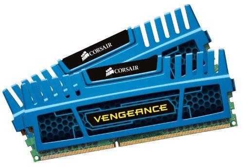 Cl9 Dual Channel (Corsair CMZ8GX3M2A1600C9B Vengeance 8GB Arbeitsspeicher ((2x4GB) DDR3 1600 Mhz CL9 XMP) blau)