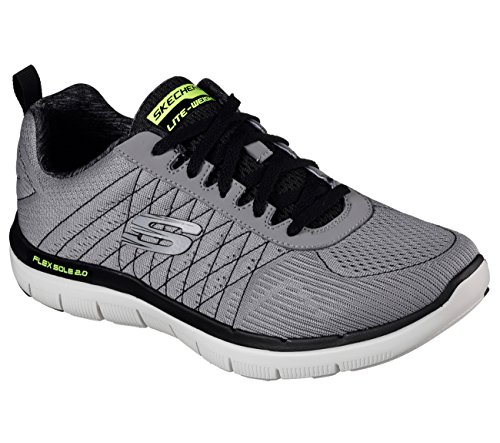 Skechers Flex Advantage 2.0-the Happs, Chaussures de Running Homme Gris (Light Grey/black)