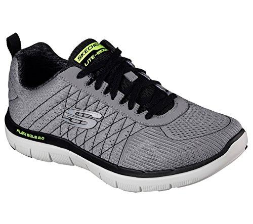 Skechers Herren Flex Advantage 2.0-Golden Point Sneaker Light Gray/black