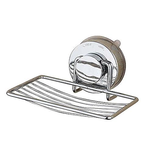 Seifenschale Holder Organizer Edelstahl Vakuum Leistungsstark Seife Saver Seifenschale Seifenablage Halterung mit Saugnapf für Dusche, Badezimmer, Badewanne und Küchenspüle–kein (Natural Wood Cabinet)