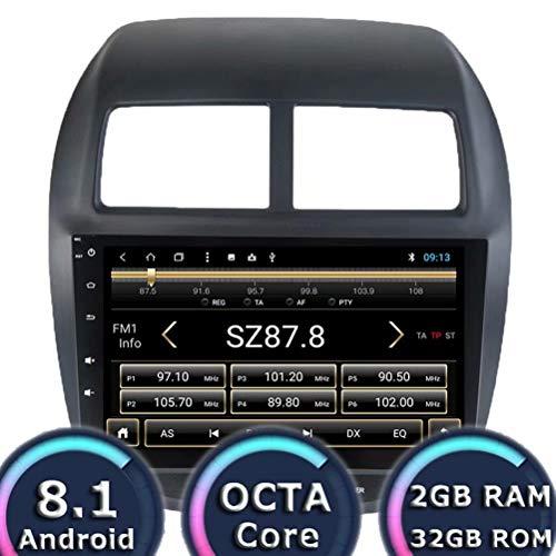 Autoradio ROADYAKO 32 Go Octa Core 10.1 Pouces pour Mitsubishi ASX 2013 2014 2015 2016 2017 Android 8.1 Navigation GPS Automatique Stéréo WiFi 3G RDS Miroir Lien FM AM BT Media
