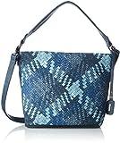 Rieker- H1309, Sacs portés épaule, femme, Multicolore (Blau), 13x26x35 cm (B x H x T)