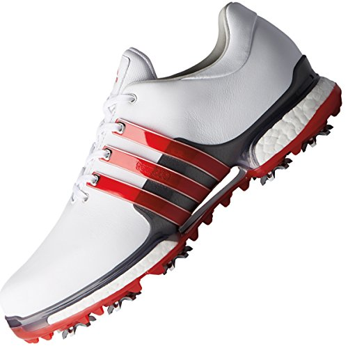100% authentic c48ac d293c adidas Tour 360 Boost 2.0, Zapatillas de Golf para Hombre (Blanco Rojo  F33625