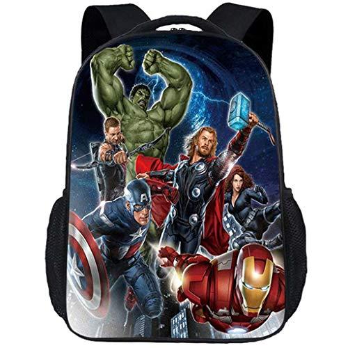 ck, 17-Zoll Cartoon Justice Team Superheld Kindergarten Daypack Junge Mädchen Schule Outdoor Reise Backpack Leichte Wasserdichte Tasche,002 ()
