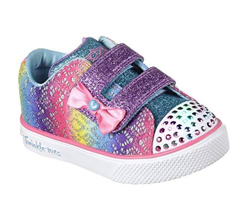 Skechers Baby Mädchen Twinkle Breeze 2.0-Colour Croc Sneaker, Mehrfarbig (Multicoloured), 21 EU
