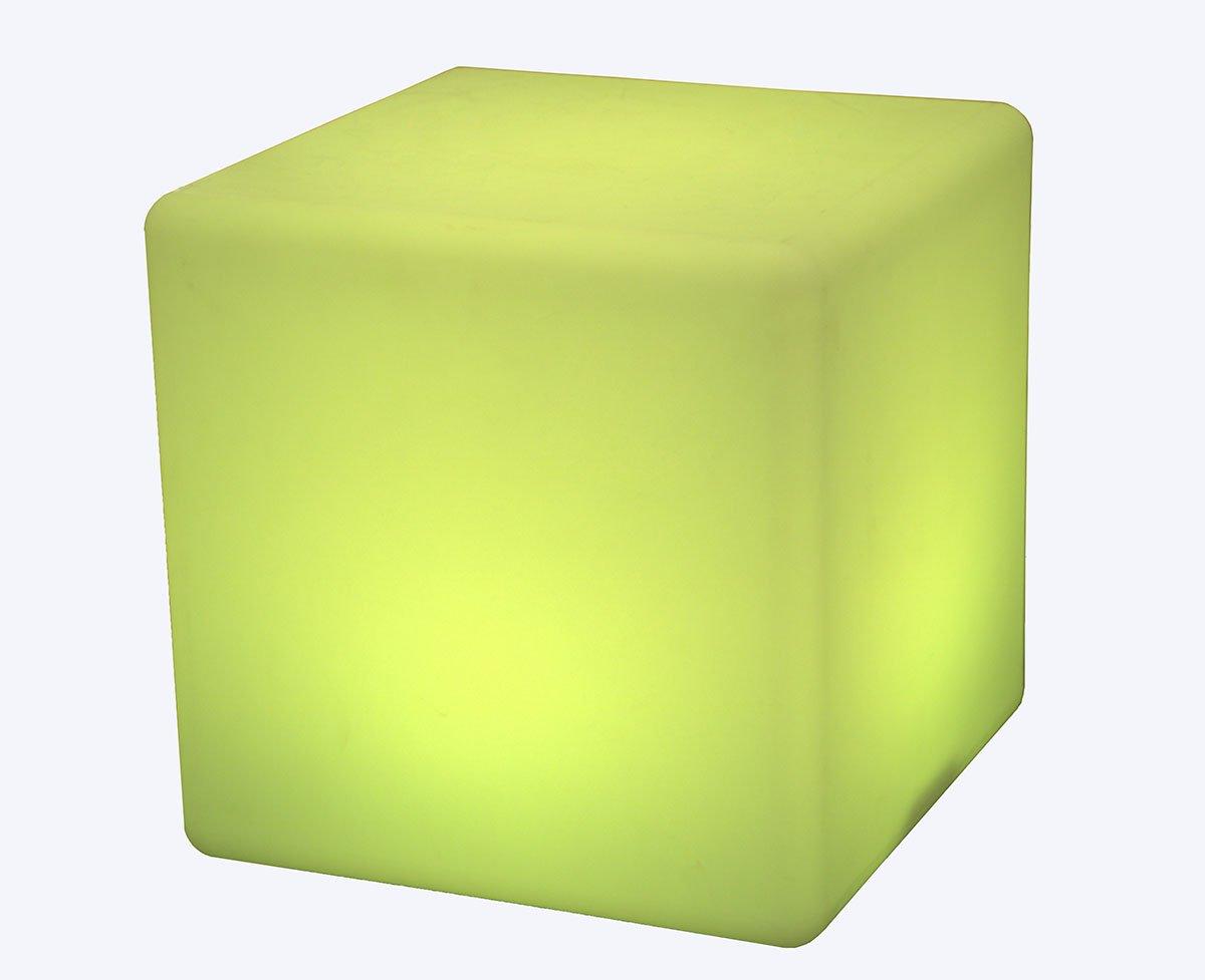 Cubo luminoso a LED, forma, ricaricabile e cordless luce decorativa con 16�colori RGB e telecomando
