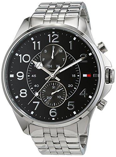 Tommy Hilfiger Herren Analog Quarz Uhr mit Edelstahl Armband 1791276