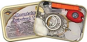 Bushcraft Mountain Kit de survie pour la montagne -23 pieces
