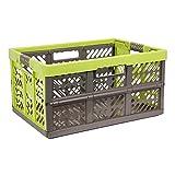 45 Liter Profi Klappbox Kunststoff Box Klappkiste Einkaufskorb Faltbox beige braun
