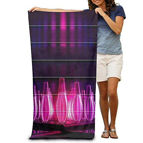 Stranddecke Strandtuch,Red Bowling Balls Printting Beach Bath Towel Extra Large Microfiber Towel for Swim Beach Chair Cover 31.5