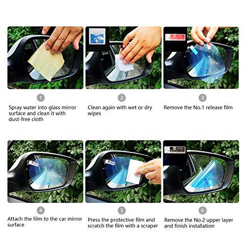 Sonstige 2 Stücke Auto Anti Wasser Nebel Film Anti Fog Rainproof Rückspiegel Schutzfolie Hoher Standard In QualitäT Und Hygiene Autopflege & Aufbereitung