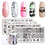 Born Pretty - 1 piastra rettangolare per stamping Hipster per manicure nail art, immagini modello