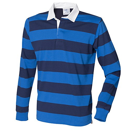 Front Row Striped rugby shirt Regatta Blue / Navy