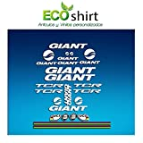 Ecoshirt MD-JUK5-61WH Stickers Cadre Giant TCR Am20 Stickers Aufkleber Decals Stickers Bike BTT VTT Cycle Blanc