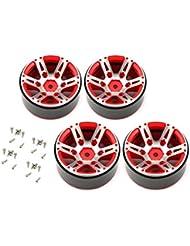 FancyswES8eety 4pcs T-Power 1,9 Pulgadas de aleación Rueda Hub Beadlock Rim Set