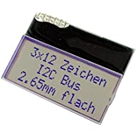 EAT123A-I2C Display LCD alphanumeric COG STN Positive 12x3 gray