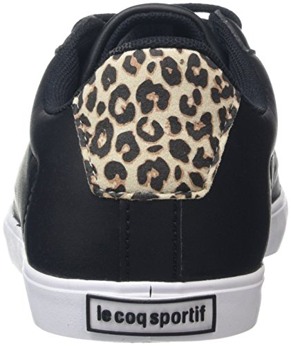 Le Coq Sportif Women Agate Lo Leopard Black/Gray Morn Multisport Outdoor Shoes, Black (Black/Gray Morn), 7 UK 41 EU