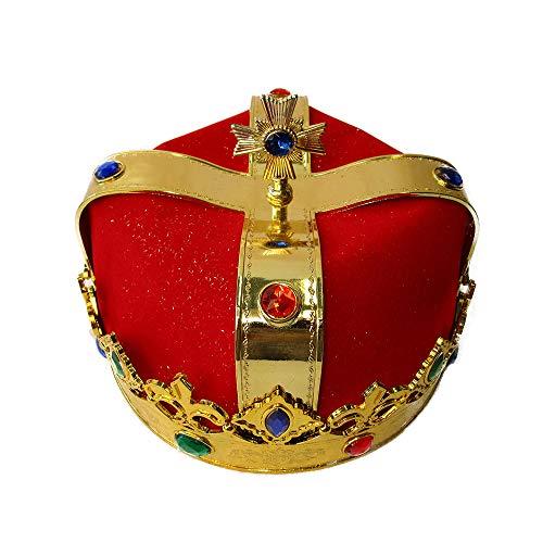 faschingskostuem koenig PARTY DISCOUNT ® Krone König mit rotem Samtfutter
