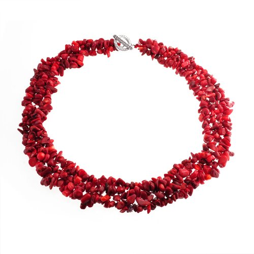 bling-jewelry-piedra-precioa-multiple-hebra-chip-coral-rojo-collar-chunky-cluter