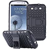 ECENCE Samsung Galaxy S3 i9300 S3 Neo i9301 HYBRID OUTDOOR COVER PLACAGE HOUSSE COQUE SILICONE PROTECTION CASE BUMPER noir 22040506