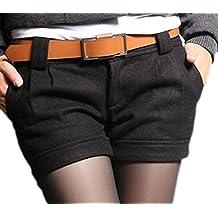 Schwarze kurze stoffhose damen