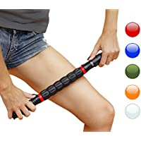 HomeGym 4U - Rodillo masajeador para corredores y deportistas, liberaciones; miofascial instantáneo alivio del dolor, puntos de activación, pierna, calambres, prevenciones de lesiones (rojo)