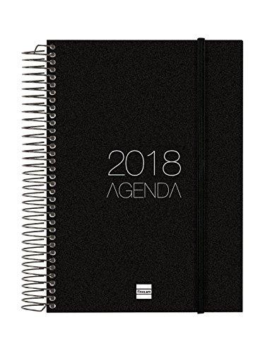 Finocam Opaque–Agenda Spiral 2018Day Page Basque, Black