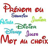 flocage patch écusson thermocollant prénom ou mot au choix police d'écriture Disney